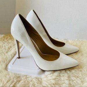 Penny Loves Kenny Pumps White Patent Leather Size7